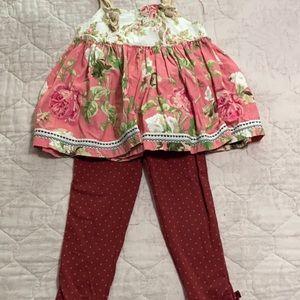 Matilda Jane set with leggings 🌹